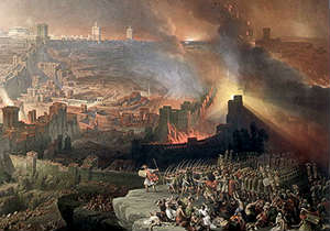 Jerusalem Temple Burns
