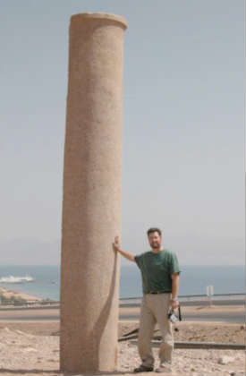 Pillar in Egypt on the Sinai Peninsula side of the Gulf of Aqabah